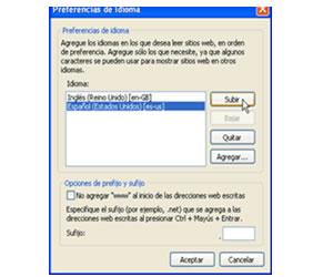 cambiar idioma internet explorer 8